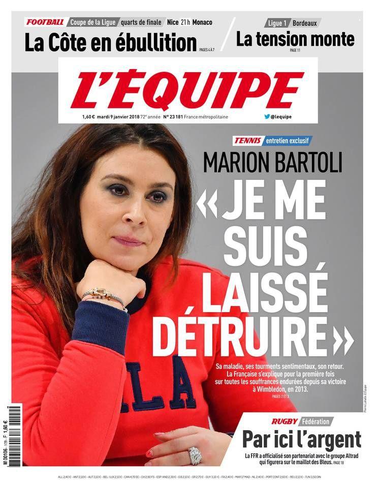 Marion Bartoli raconte dans l'Equipe comment elle s'est laissée détruire par un homme.