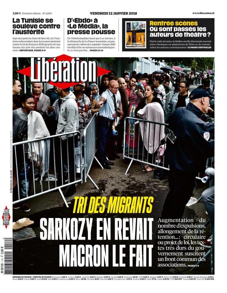 La Une des quotidiens nationaux ce vendredi 12 janvier.