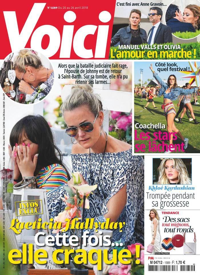 La Une de la presse people ce vendredi : Laeticia Hallyday, Manuel Valls, Valérie Trierweiler.