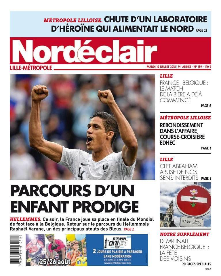 La Une de la presse quotidienne régionale ce mardi : spécial France - Belgique.
