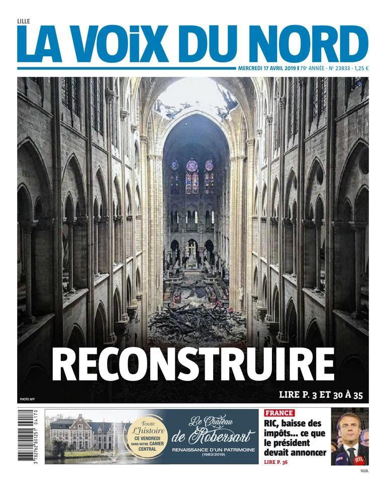 La UNE des quotidiens nationaux et régionaux ce mercredi 17 avril (spécial Notre-Dame)