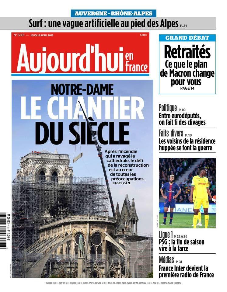 Magazine spécial en direct aux pieds de Notre-Dame, dimanche midi sur France 2.