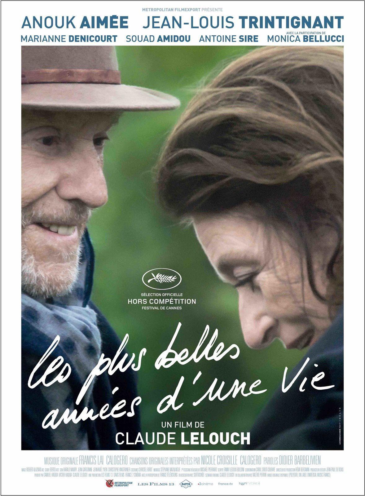 Dans les salles dès ce mercredi : Les plus belles années d'une vie, avec Jean-Louis Trintignant et Anouk Aimée.
