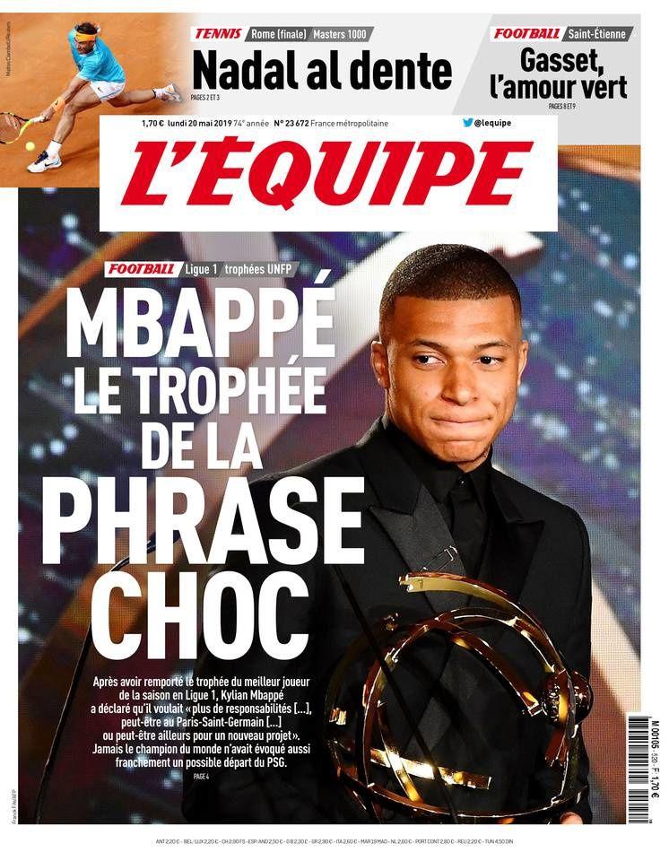 Palmarès des Trophées du football UNFP dévoilé dimanche : Mbappé grand gagnant de la soirée.