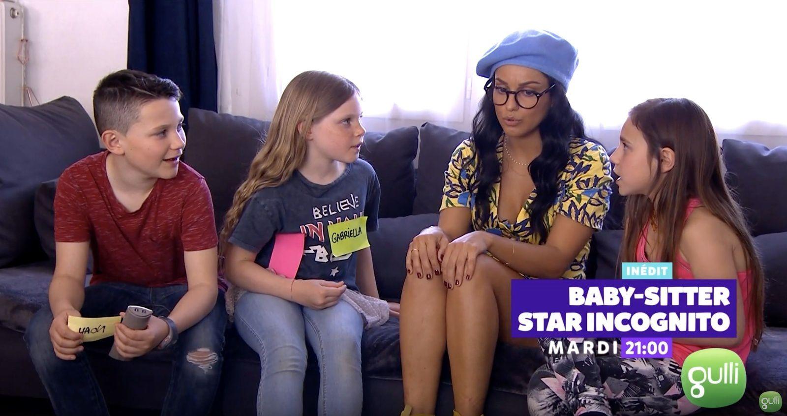 "Tal, Malik Bentalha et Maëva Coucke dans un inédit de ""Baby-sitter : Star incognito"", ce 4 juin."