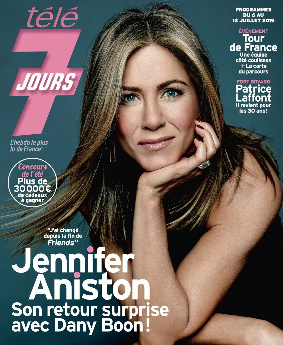 La UNE des hebdos TV ce lundi : Vanessa Paradis, Jennifer Aniston, Jean-Luc Reichmann...