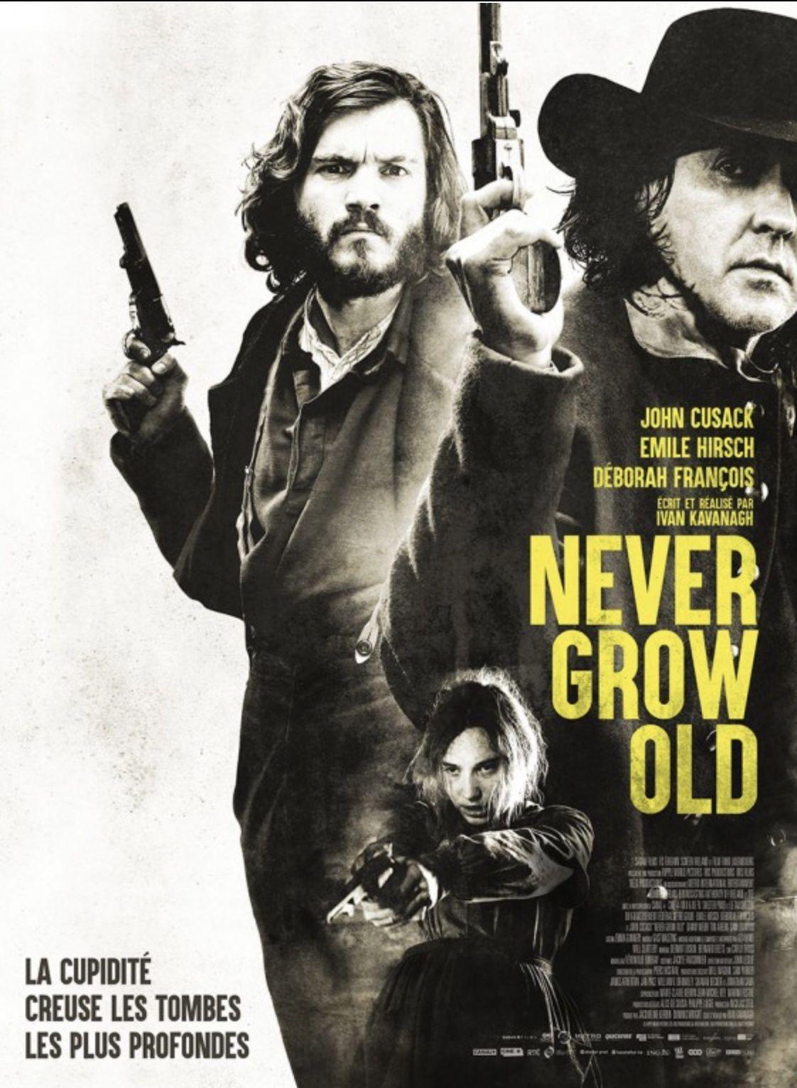 Dans les salles dès ce mercredi, le film Never Grow Old.