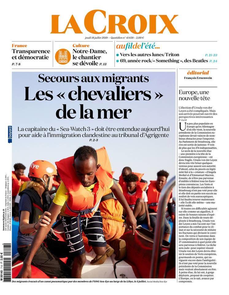 La UNE des quotidiens nationaux ce jeudi 18 juillet.