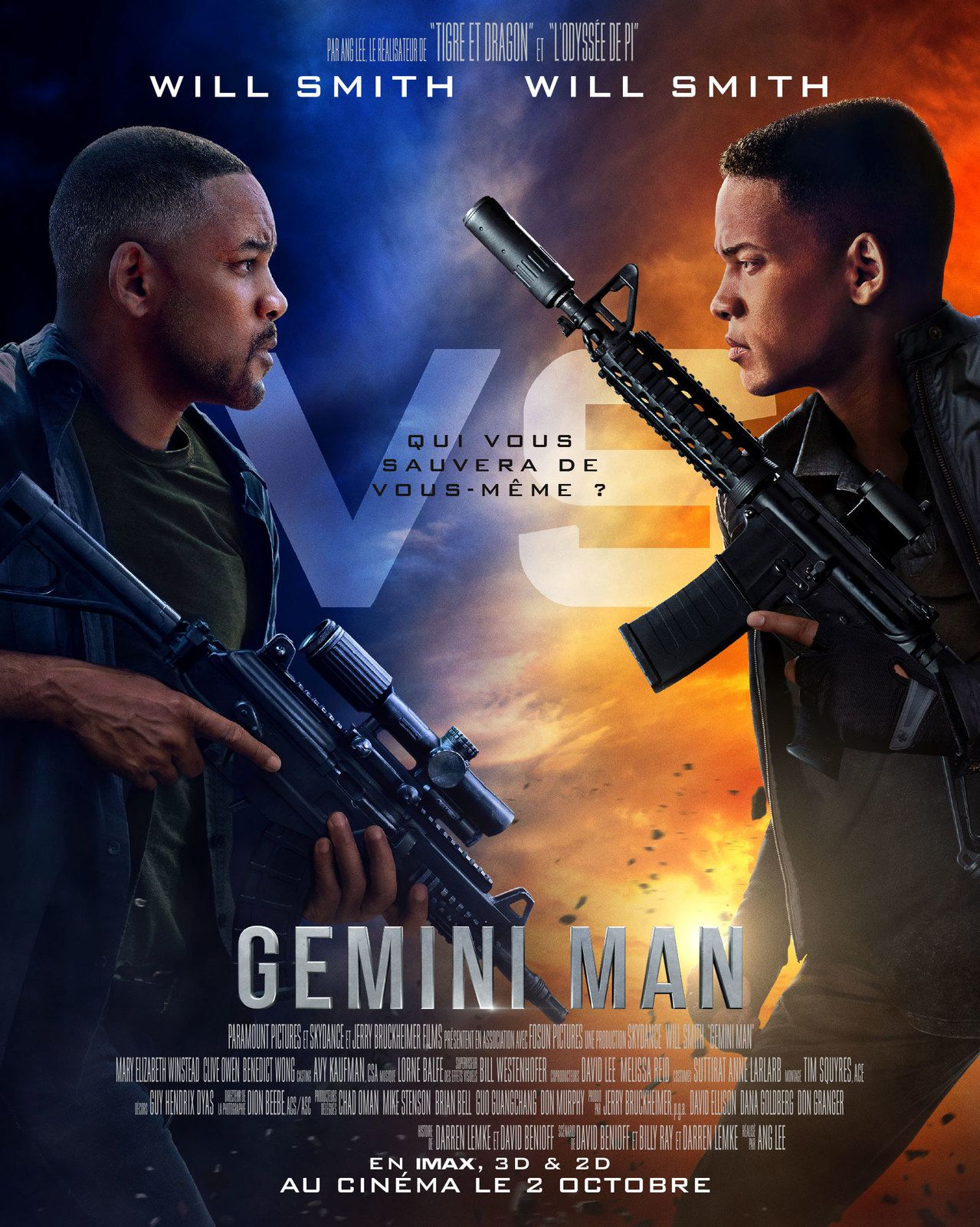 Nouvelle bande-annonce de Gemini Man, avec Will Smith (un film de Ang Lee).
