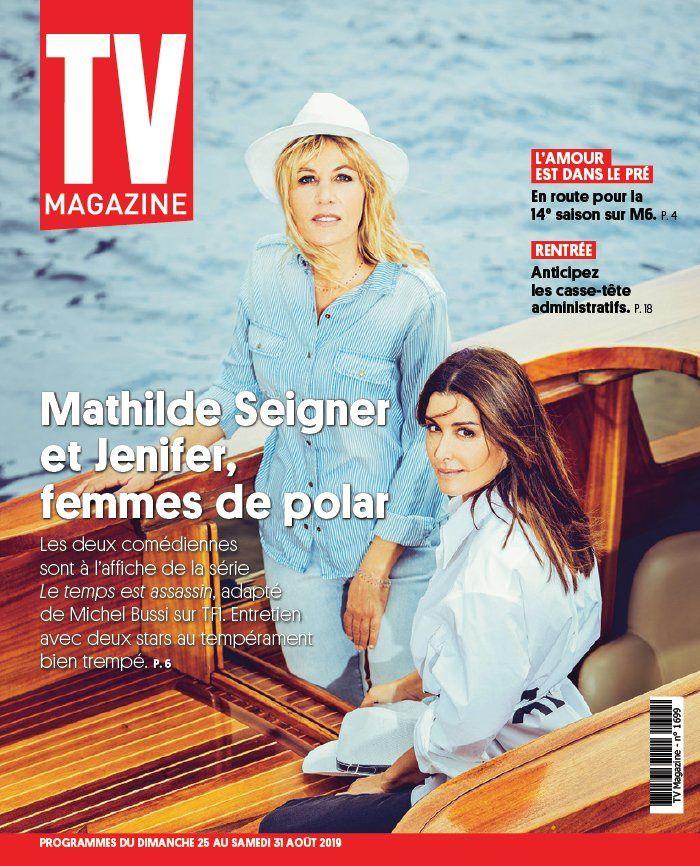 La UNE des hebdos TV ce lundi : Mathilde Seigner, Ingrid Chauvin, Corinne Masiero...