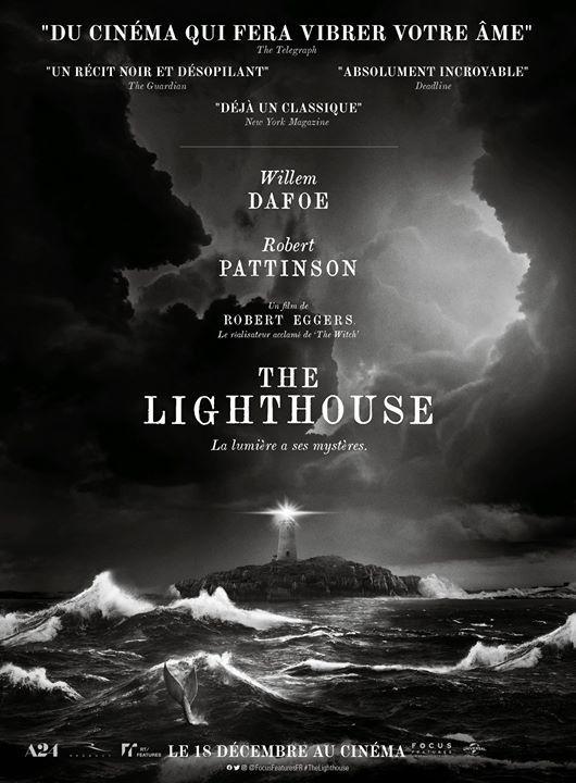 Dans les salles dès ce mercredi, The Lighthouse, avec Willem Dafoe et Robert Pattinson.