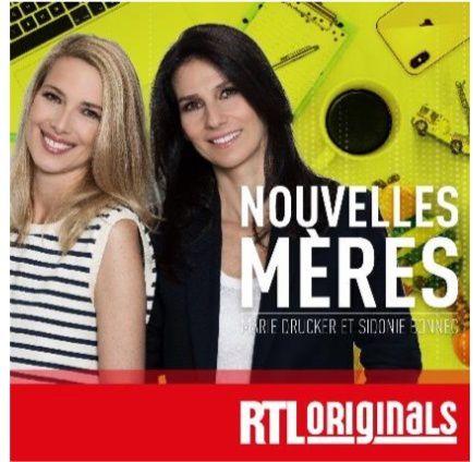 « Nouvelles Mères », nouveau podcast RTL réalisé et présenté par Marie Drucker et Sidonie Bonnec.