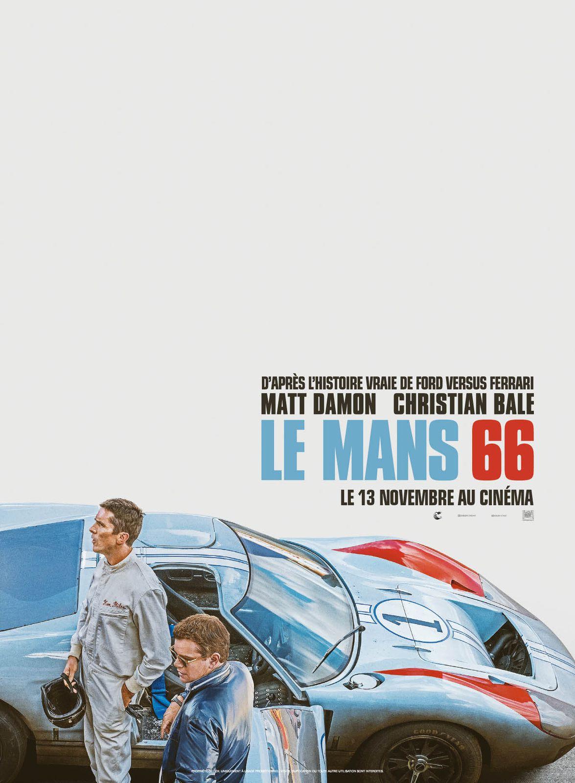 Dans les salles dès ce mercredi, le film Le Mans 66, avec Matt Damon et Christian Bale.