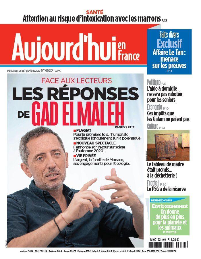 Interrogé dans Le Parisien, Gad Elmaleh annonce son retour seul en scène, et parle du plagiat.