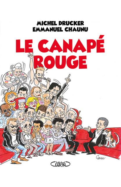 Publication du livre Le canapé rouge, par Michel Drucker et le dessinateur Chaunu.