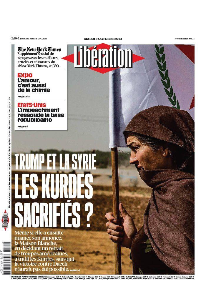 La UNE des quotidiens nationaux ce mardi 8 octobre.