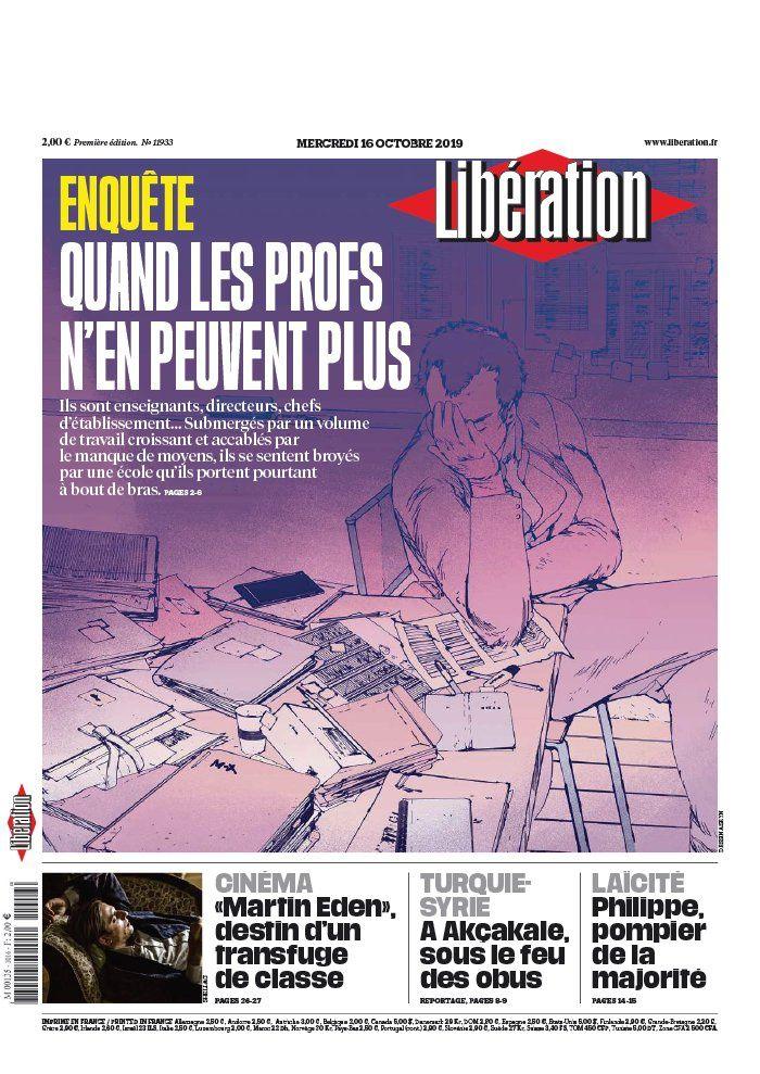 La UNE des quotidiens nationaux ce mercredi 16 octobre.