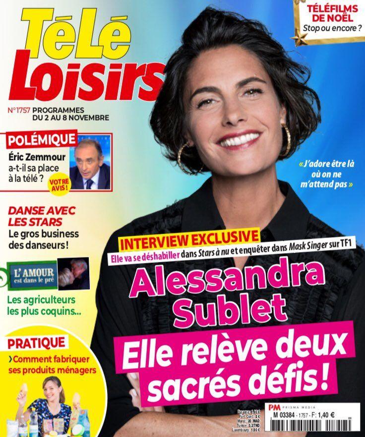 La UNE des hebdos TV ce lundi : Camille Combal, Alessandra Sublet, Flavie Flament…