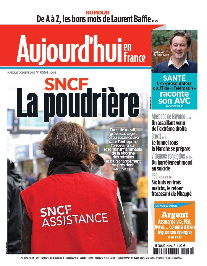 La UNE des quotidiens nationaux ce mardi 29 octobre.