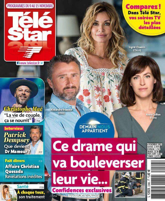 La UNE des hebdos TV ce lundi : Aurélie Vaneck, Demain nous appartient, Camille Combal…