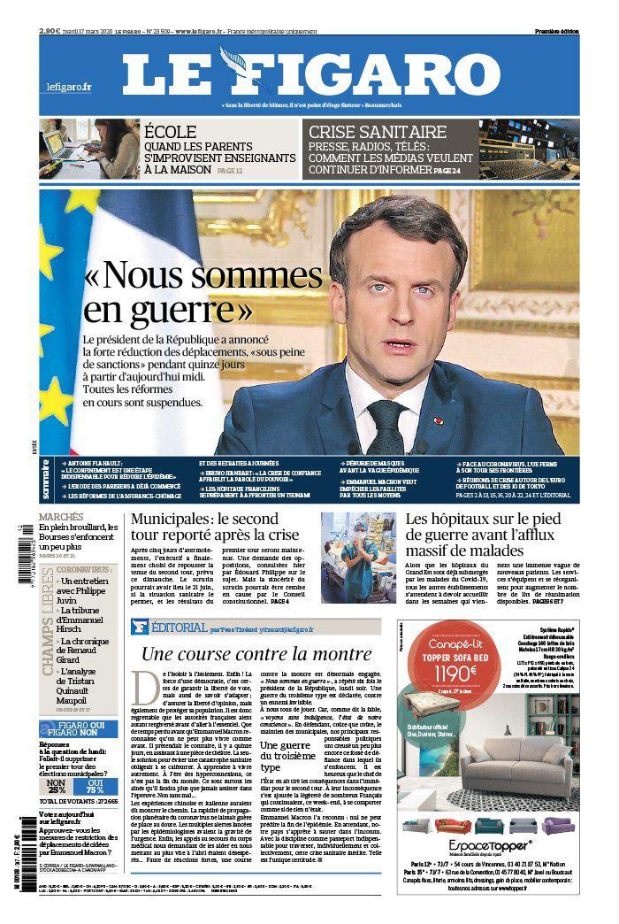 La une des quotidiens nationaux ce mardi 17 mars.