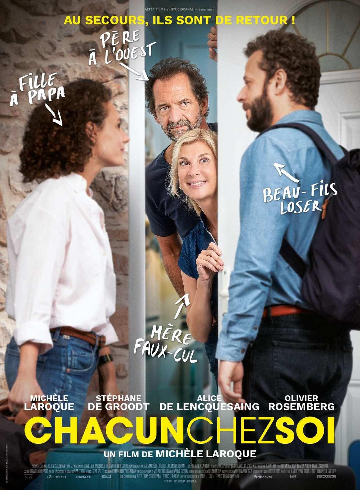 Sortie de la comédie Chacun chez soi, avec Michèle Laroque et Stéphane de Groodt, repoussée au 10 juin.