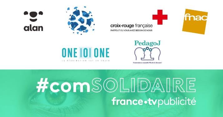 Voici les annonceurs qui inaugurent la nouvelle offre #comSOLIDAIRE de FranceTV Publicité.