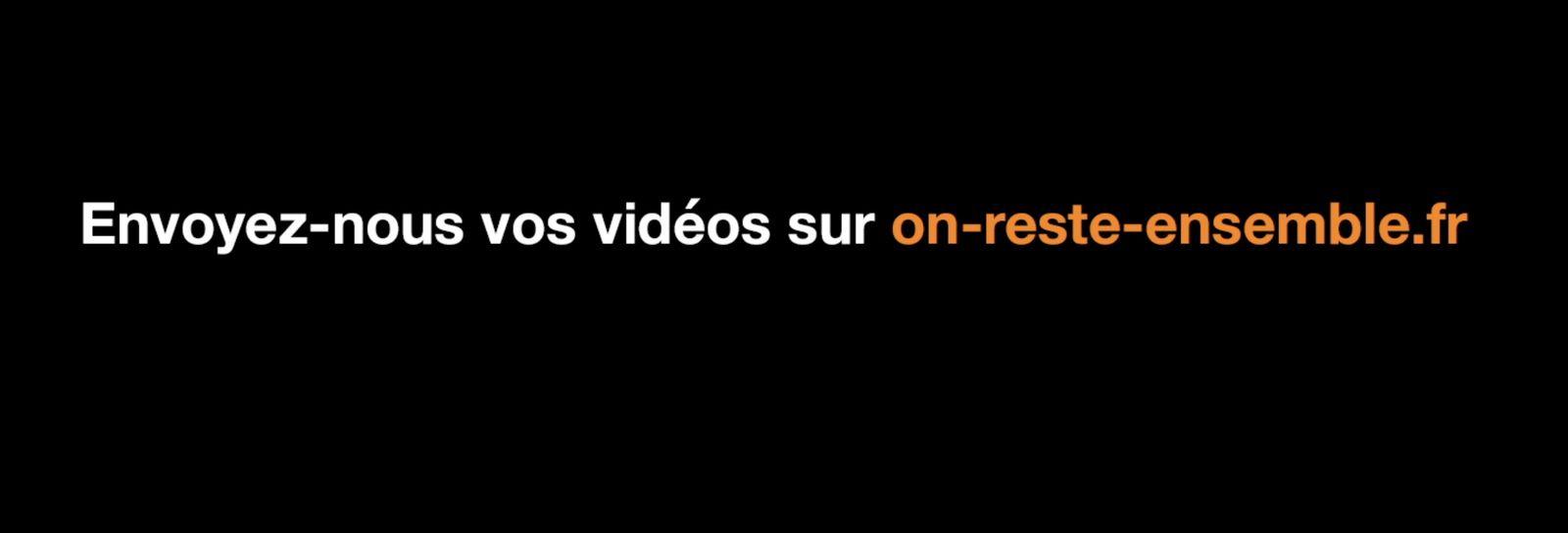 Orange lance #onresteensemble : envoyez votre message vidéo aux aînés, qui sera diffusé à la télévision.