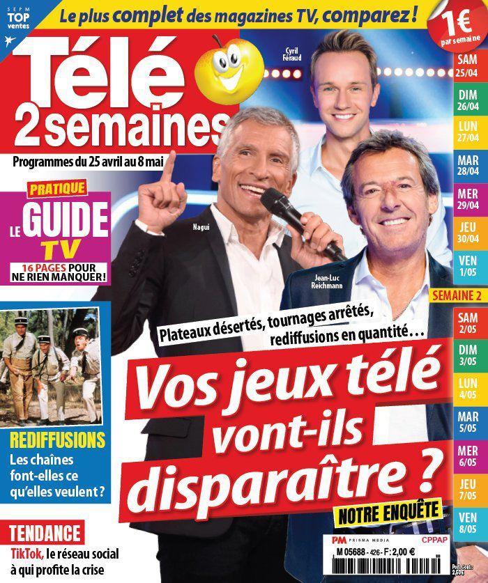 La une des hebdos TV ce lundi : Nagui, Denis Brogniart, Stéphane Bern…