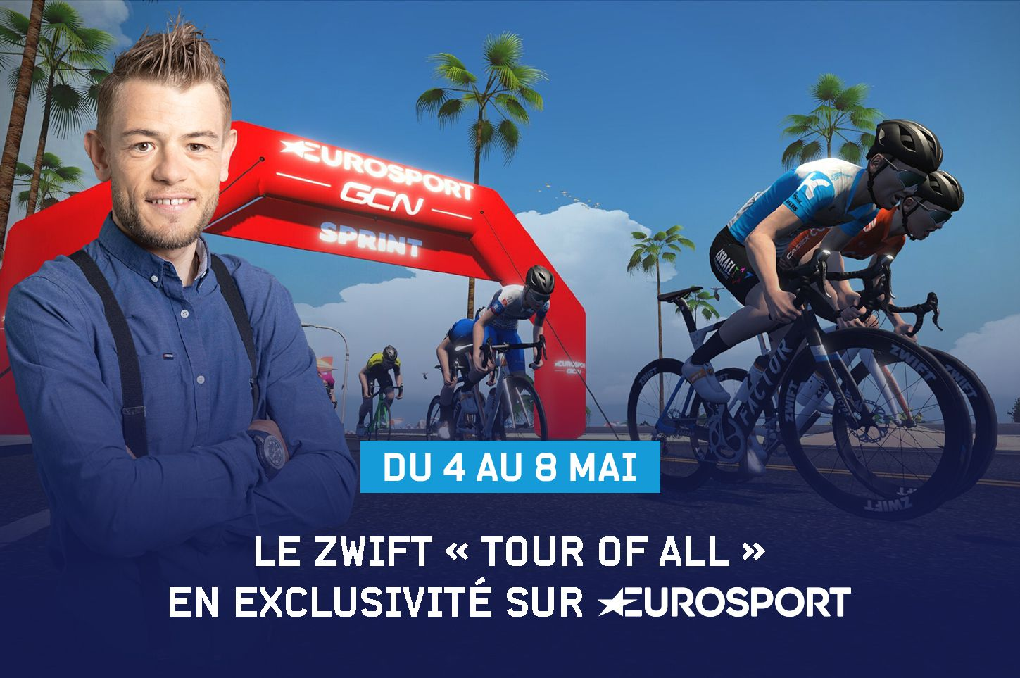 Course cycliste virtuelle, le Zwift « Tour of All » débarque sur Eurosport.