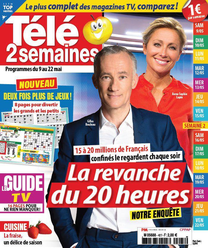 La une des hebdos TV cette semaine : Evelyne Dhéliat, Faustine Bollaert, Koh Lanta…