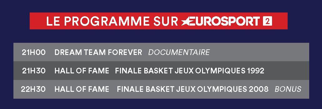 Basket US : soirée spéciale Dream Team ce dimanche sur Eurosport.