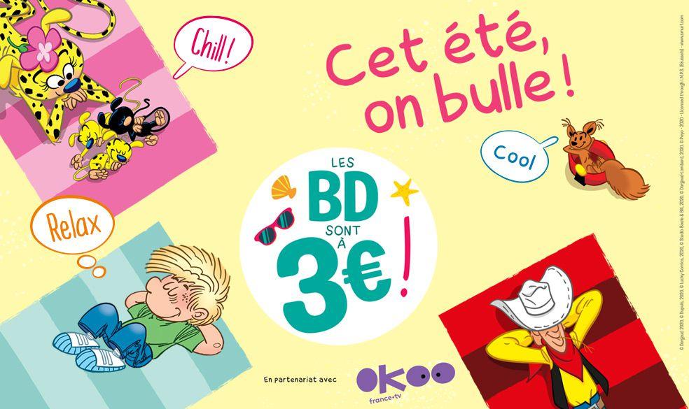 Opération Cet été, on bulle : une sélection de BD au prix attractif de 3 euros, dès ce mercredi.