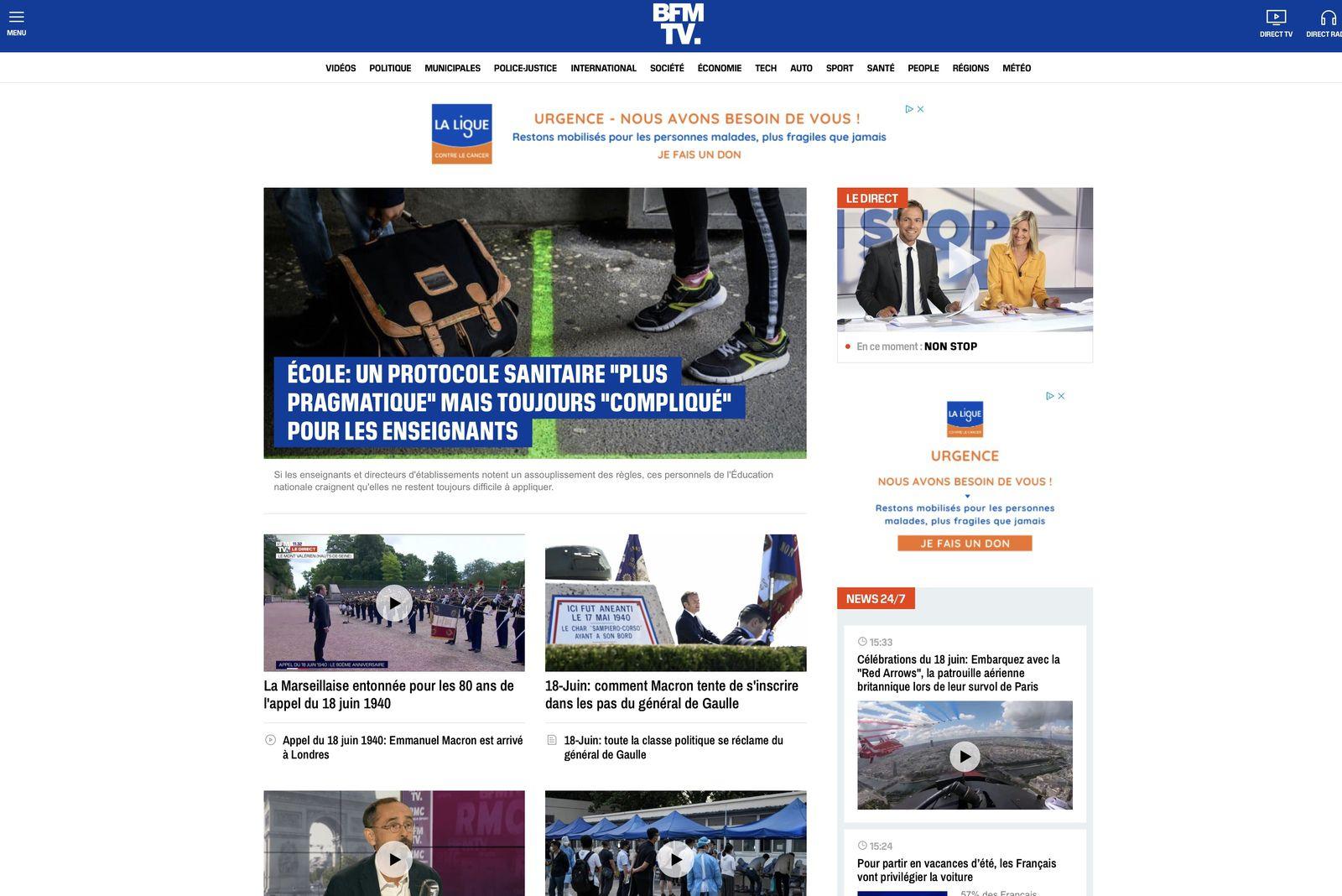 BFMTV a lancé une nouvelle version de son site internet.