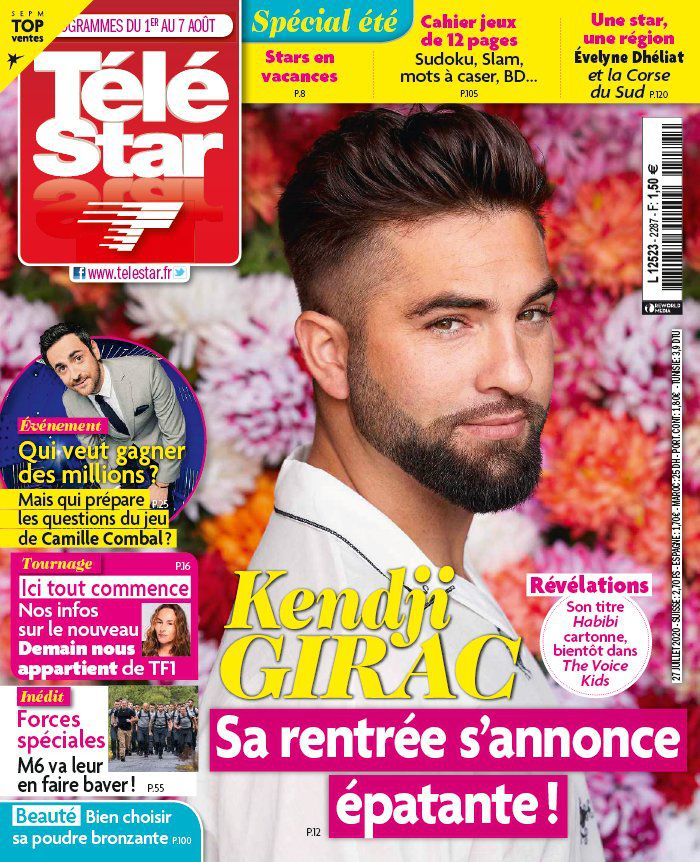 La une des hebdos TV ce lundi : Cyril Féraud, Kendji Girac, Camille Combal…