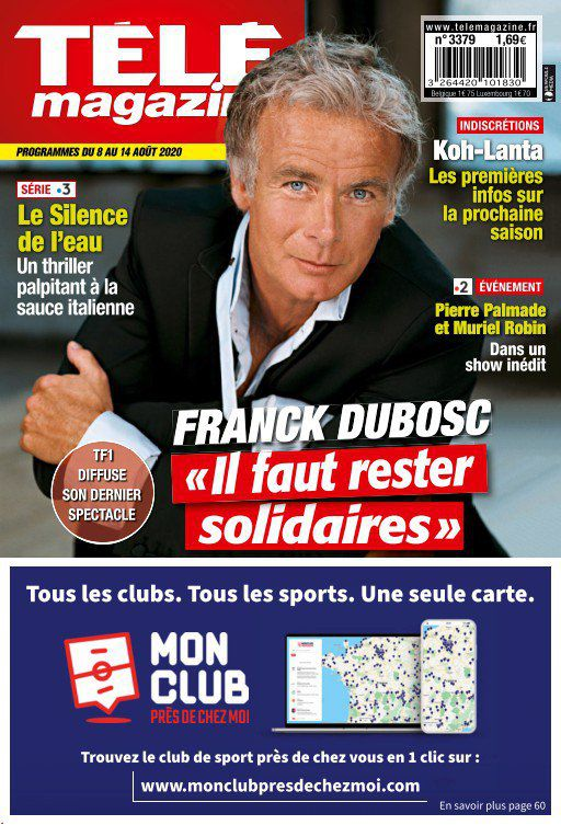 La une des revues TV ce lundi : Franck Dubosc, Audrey Crespo-Mara, Jacques Legros...