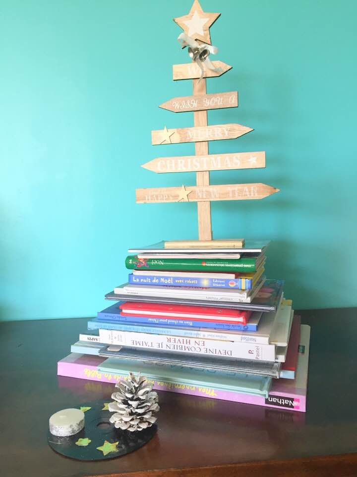 [Activité] Un calendrier de l'Avent / Sapin en livres, pour les bibliophiles... pour un Noël éthique et Zéro Déchet