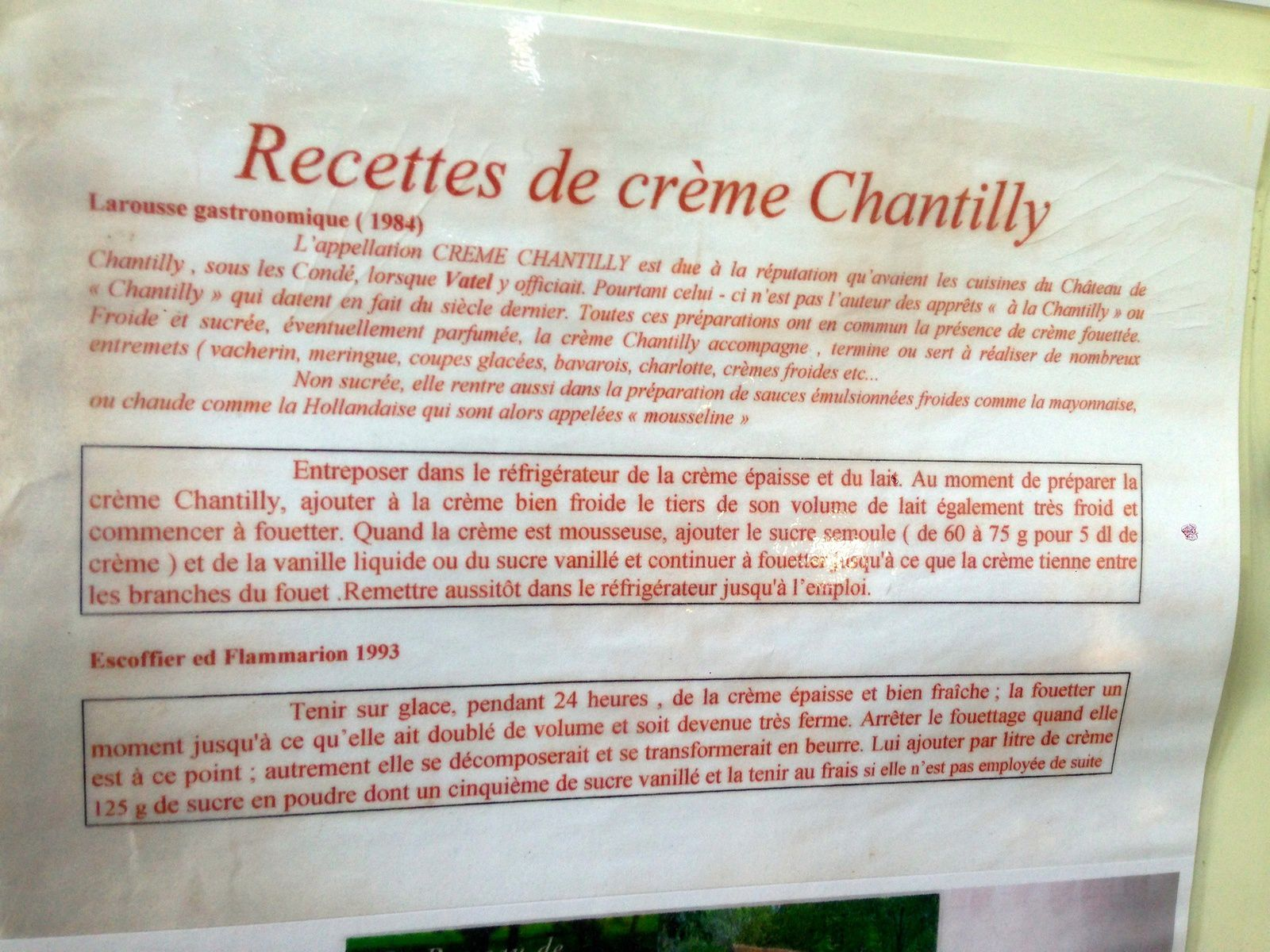 Chantilly, me voilà !