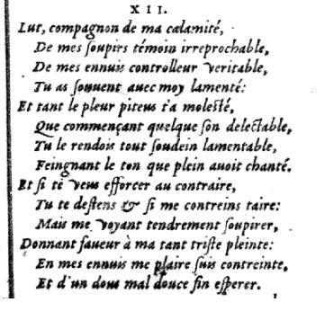 Variantes - Louise Labé : sonnet XII
