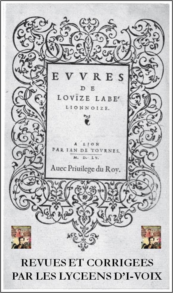 Livre numérique - Sonnets de Louise Labé avec variantes
