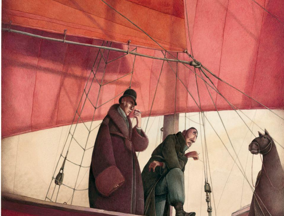 Image issue du livre Soie illustré par Rebecca Dautremer