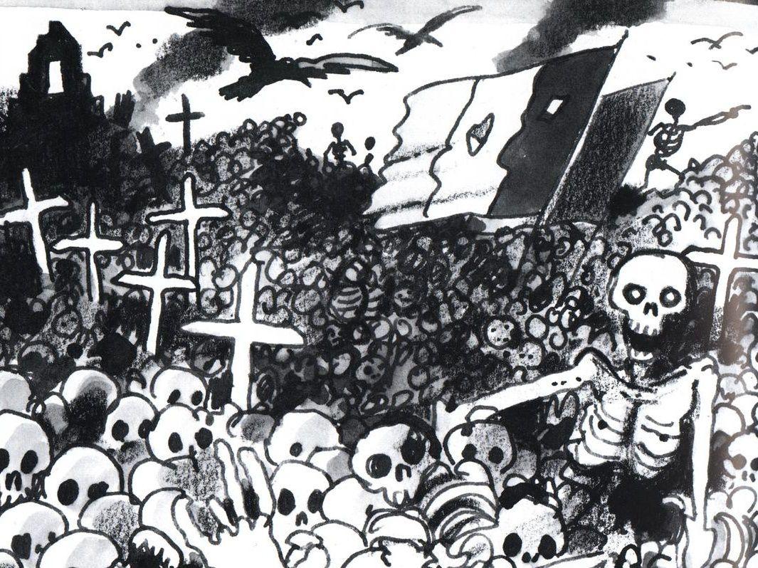Illustration de Jacques Tardi de Voyage au bout de la nuit.