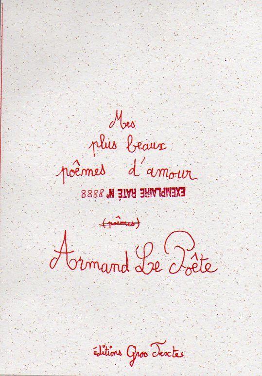 Fiche - Armand Le Poête : Mes plus beaux poêmes d'amour