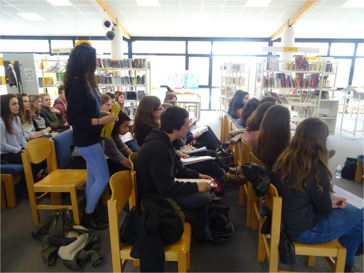 24-03-16 : Rencontre avec Rémi Checchetto au CDI du lycée de l'Iroise, puis à la médiathèque Saint-Marc
