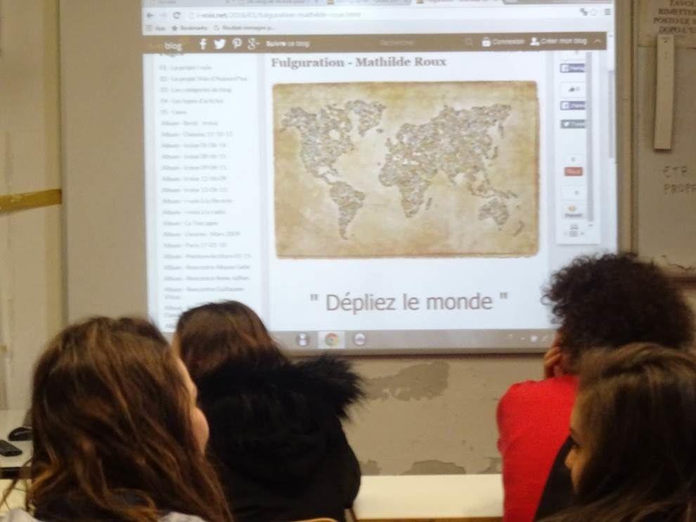 Livorno, Liceo Cecioni, 14 mars 2016 : à l'invitation de Mathilde Roux,  les lycéens d'i-voix à la conquête poétique du monde.
