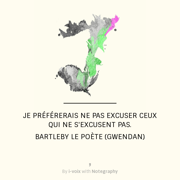 Bartleby le poète - Excuses