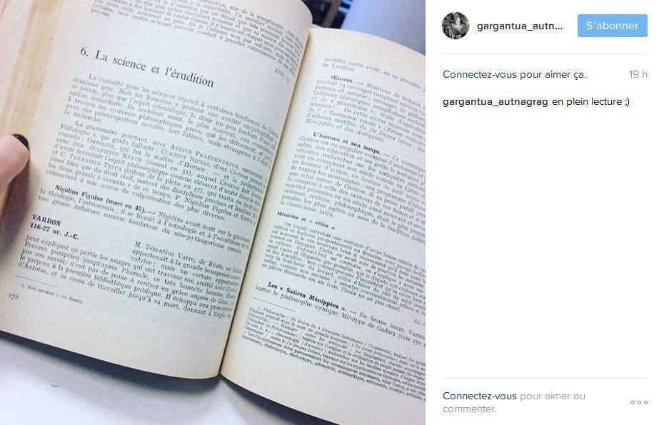 Détournement - Gargantua sur Instagram !