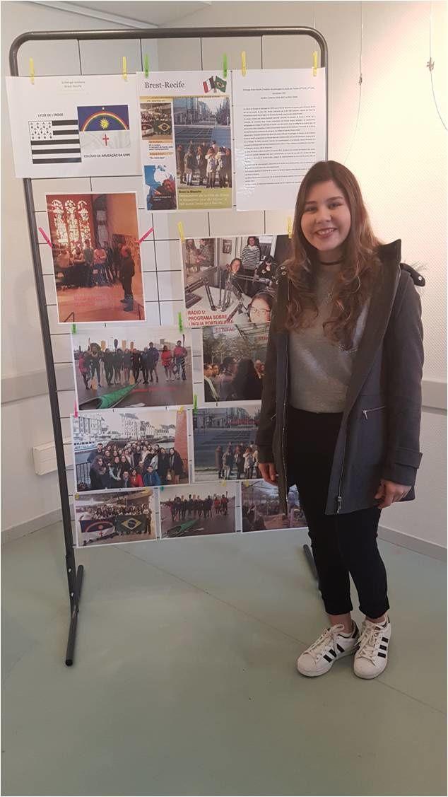 Anna-Catharina, lycéenne brésilienne en immersion scolaire à l'Iroise, i-voix saison 10