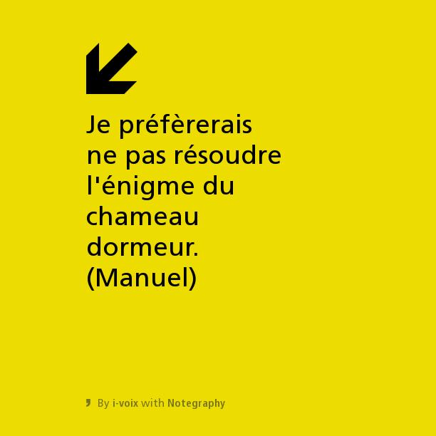 Bartleby tweete - Chameau