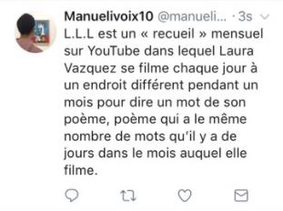 Tweet-résumé - Laura Vazquez